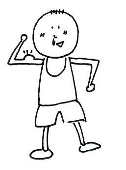 可爱胖男孩简笔画
