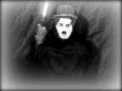 Charlie Chaplin as Luke Skywalker.